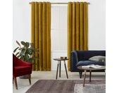 Julius, paire de rideaux doublés à œillets 168 x 228 cm, velours doré antique