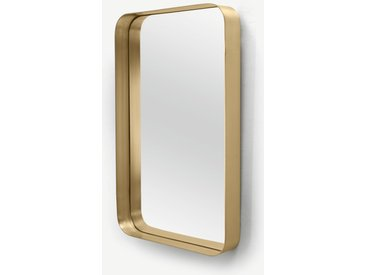 Alana, grand miroir rectangulaire 70 x 100 cm, laiton brossé
