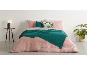Grove, couvre-lit gaufré 100% coton délavé, 150 x 200 cm, vert tempête
