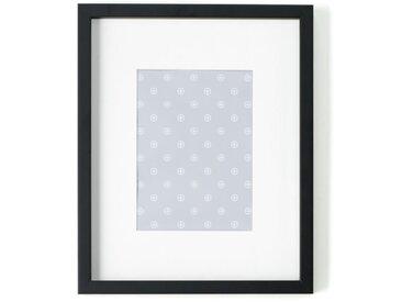 Portland, cadre photo 24 x 30 cm, noir avec passe-partout blanc 13 x 18 cm