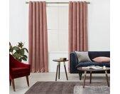 Julius, paire de rideaux doublés à œillets 168 x 228, velours rose doux