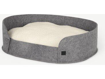 Hyko, grand lit rond en feutre pour animal de compagnie, gris