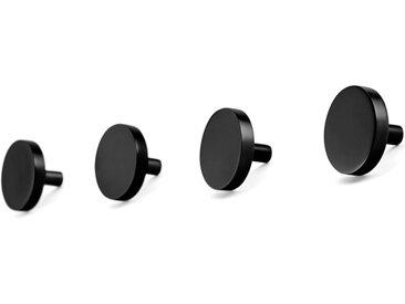 Bjork, lot de 4 boutons de meuble ronds 38 mm, nickel noir