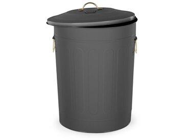 Akita, poubelle de cuisine 49L, gris acier & laiton