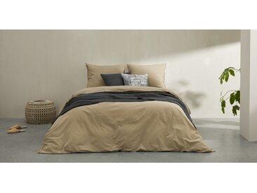 Alexia linge de lit 100% coton délavé, double (200 x 200), gris pierre