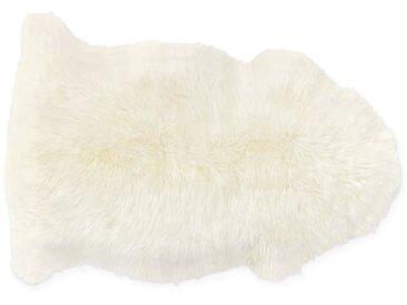 Helgar, peau de mouton 60 x 90 cm, blanc ivoire