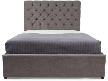 Skye, lit coffre double (140 x 200) avec sommier, gris étain
