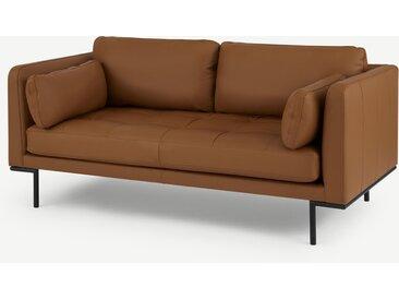 Harlow, grand canapé 2 places, cuir beige Denver
