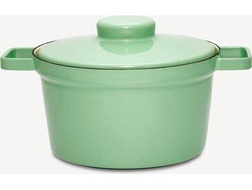 Riess, cocotte en acier et émail, 24 cm, vert slow