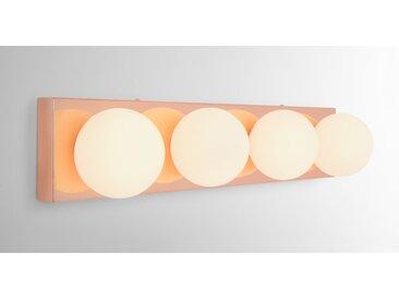Apollo, luminaire LED de salle de bain rectangulaire, fini cuivré et verre opale