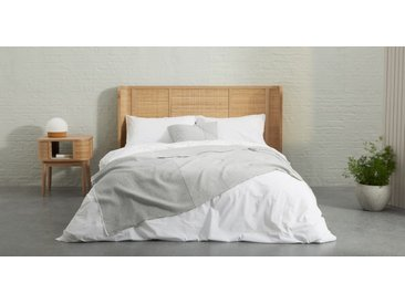 Enya, couvre-lit 100% coton biologique, gris chaud