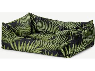 Kysler, lit pour animal de compagnie Medium, vert imprimé feuillage