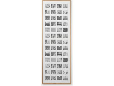 Diment, très grand cadre photo 52 vues, 133 x 48 cm, chêne