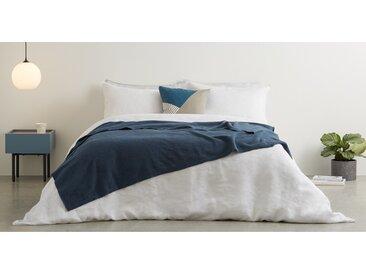 MADE Essentials Brosse, couvre-lit 100% polaire de coton 150 x 200 cm, bleu Égée