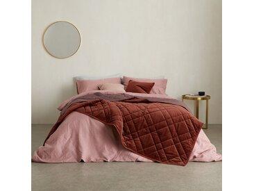 Sharmini, couvre-lit en velours 225 x 220 cm, terracotta sombre