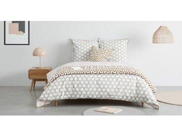 Juniper linge de lit réversible 100% coton, king size (240 x 220), jaune moutarde et rose