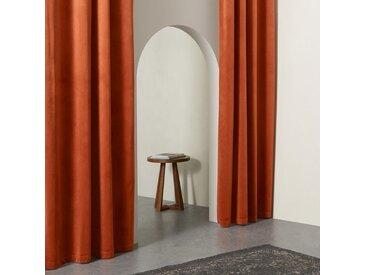 Julius, paire de rideaux doublés à œillets 168 x 228 cm, velours orange brûlé