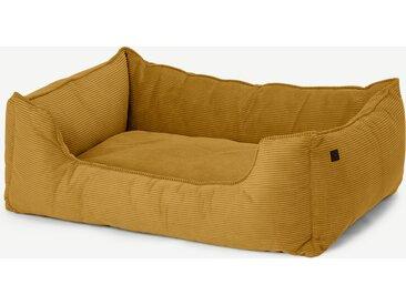Kysler, lit pour animal de compagnie Extra Large, velours côtelé jaune moutarde