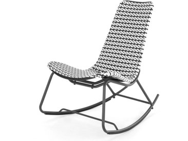 Pya, rocking-chair d'extérieur, monochrome