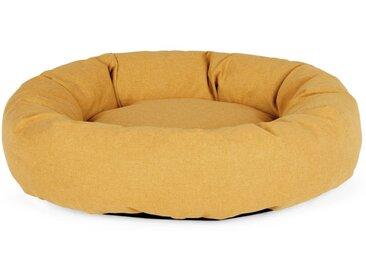 Kysler, grand lit rond pour animal de compagnie, jaune moutarde
