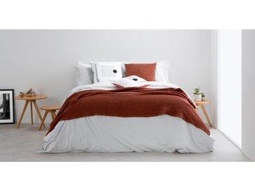 Grove, couvre-lit gaufré 100% coton délavé 150 x 200 cm, terre cuite