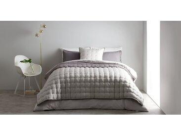 Korba, couvre-lit en soie 225 x 220 cm, gris argent