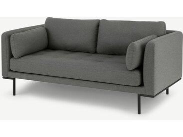 Harlow, grand canapé 2 places, gris élite