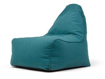 Ayra, fauteuil poire, bleu minéral