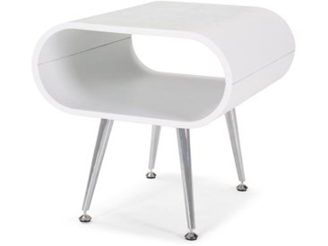 Hooper, une table de nuit, blanc