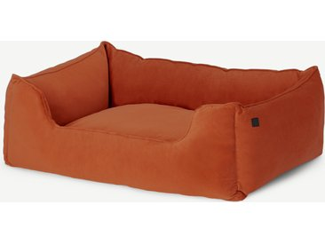 Kysler, lit pour animal de compagnie, velours orange brûlé, M