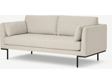 Harlow, grand canapé 2 places, tissu texturé beige avoine
