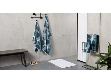 Holton, lot de 2 serviettes essuie-mains 100% coton, bleu Égée