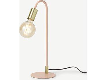 Octavia, lampe de table, métal rose et laiton