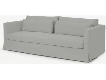 Arabelo, canapé 3 places déhoussable, mélange coton et lin bleu minéral