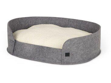 Hyko, lit rond en feutre pour animal de compagnie Medium, gris