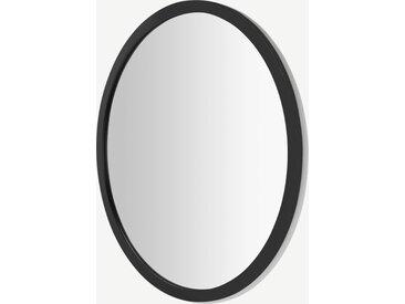 Keily, miroir mural rond 90 cm, noir
