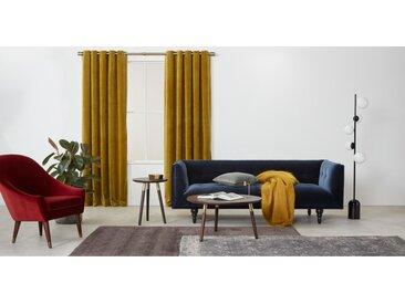 Julius, une paire de rideaux à œillets doublés en velours 135 x 260 cm, doré