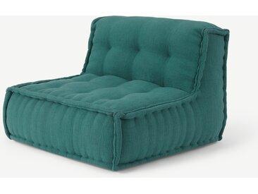 Sully, chauffeuse coussin de sol, bleu canard