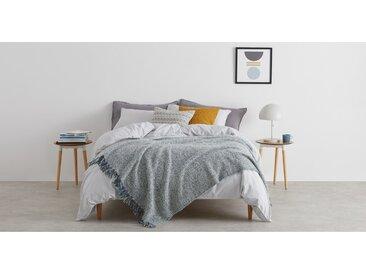 Marlow, plaid en laine mélangée 130 x 170 cm, bleu canard