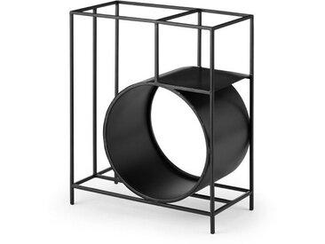 Azor, grand range-bûches géométrique, noir