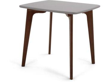 Fjord, table carrée, chêne teinté et gris