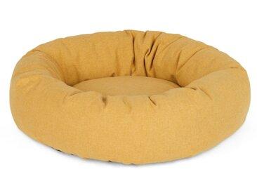 Kysler, lit rond moyen pour animal de compagnie, jaune moutarde