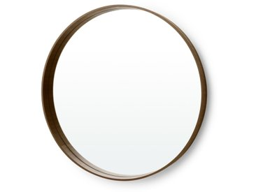 MADE Essentials - Bex, grand mirror rond 76 cm, noyer