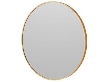 Parton, miroir mural ovale 60 x 60 cm, laiton brossé