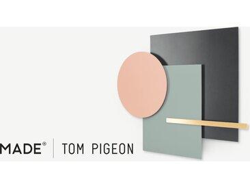 Assembly, par Tom Pigeon, décoration murale, métal rose et laiton