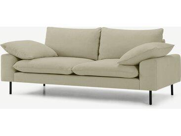 Fallyn, grand canapé 2 places, tissé sable délavage pierre