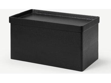 Clover, boîte à pain en bois d'acacia, noir