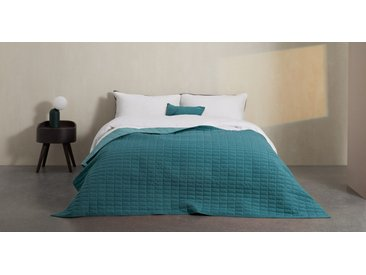 Dorin, couvre-lit matelassé 130 x 200 cm, bleu canard
