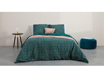 Annie, linge de lit 100% coton, king size (240 x 220), vert paon