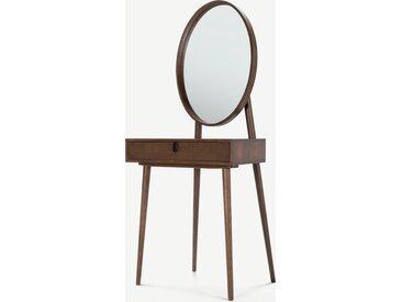Penn, coiffeuse avec miroir intégré, chêne sombre